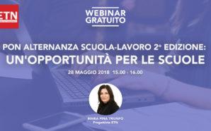 """Webinar """"PON Alternanza Scuola-Lavoro 2a edizione: un'opportunità per le scuole"""""""