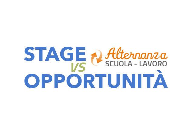alternanza scuola-lavoro stage o opportunità