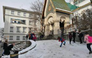 Battaglie di neve a Sofia