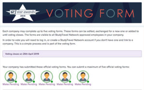 ST Star Awards 2019: how to vote for ETN
