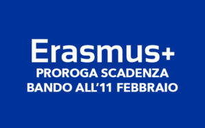 Erasmus+: prorogata la scadenza all'11 febbraio