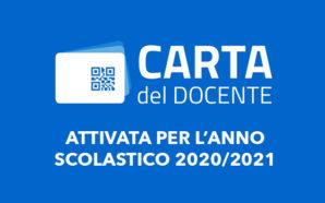 Attivata la Carta del Docente per l'anno scolastico 2020/2021: disponibili…